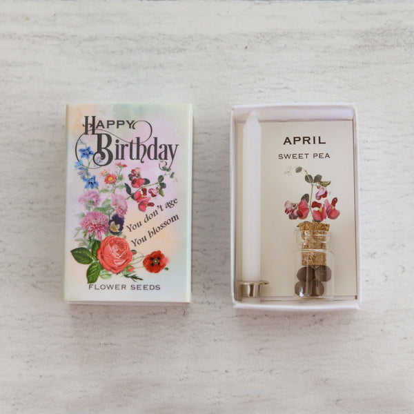 April Birth Flower Seeds In A Matchbox