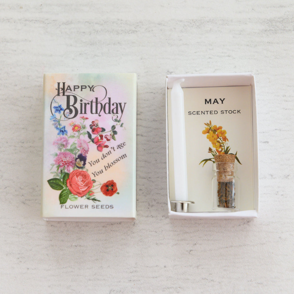 May Birth Flower Seeds In A Matchbox
