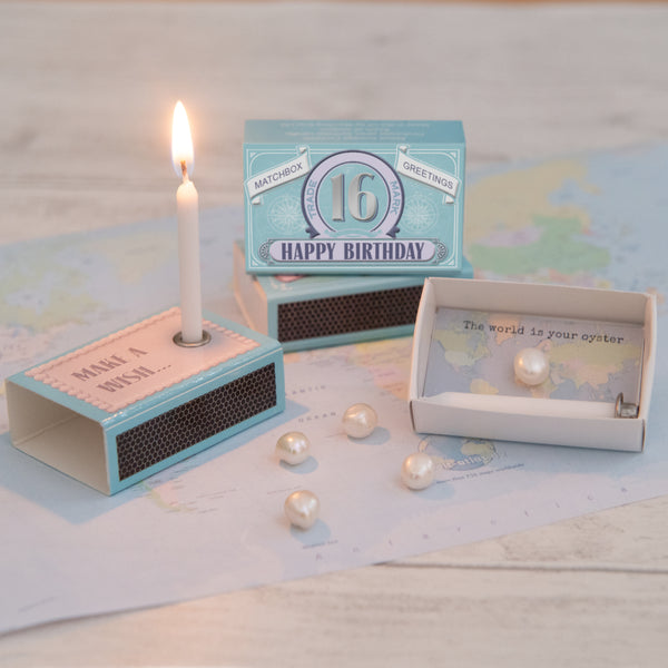 Happy 16th Birthday Candle And Freshwater Pearl Gift