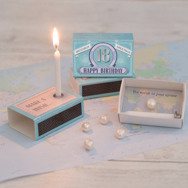 Happy 18th Birthday Candle And Freshwater Pearl Gift