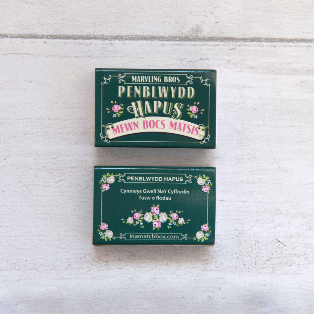 Welsh Birthday Bunch Of Flowers In A Matchbox