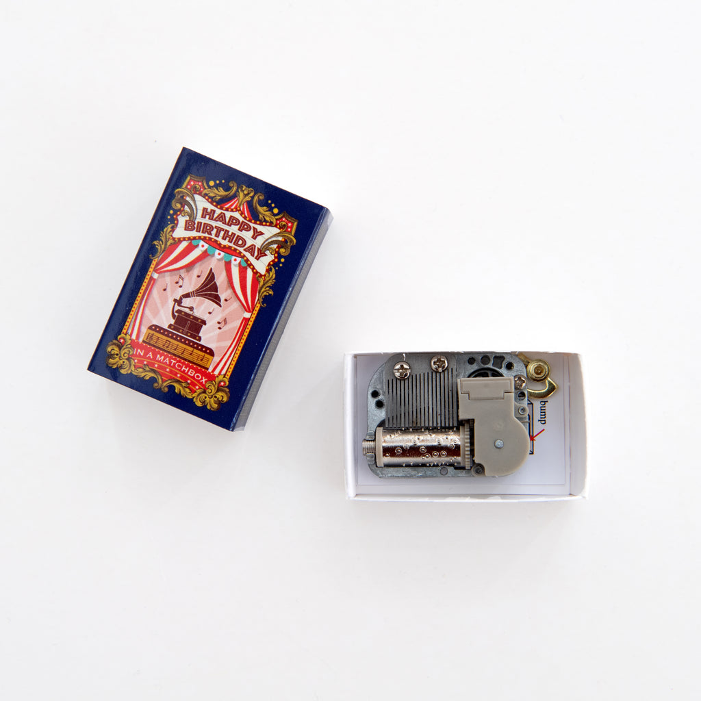 Happy Birthday Music Box Kit In A Matchbox