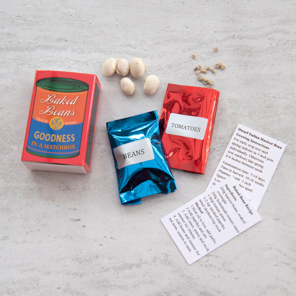 Grow Your Own Baked Beans Seed Kit In A Matchbox