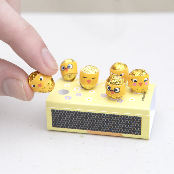 A Dozen Eggs in a matchbox