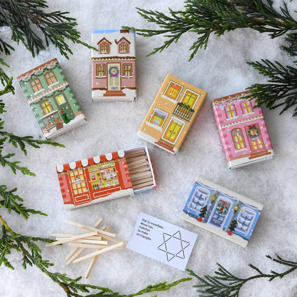 Village Scene Matchstick Puzzles Alternative Christmas Cracker Set