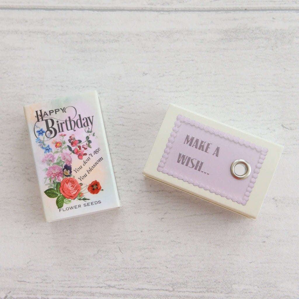 March Birth Flower Seeds In A Matchbox