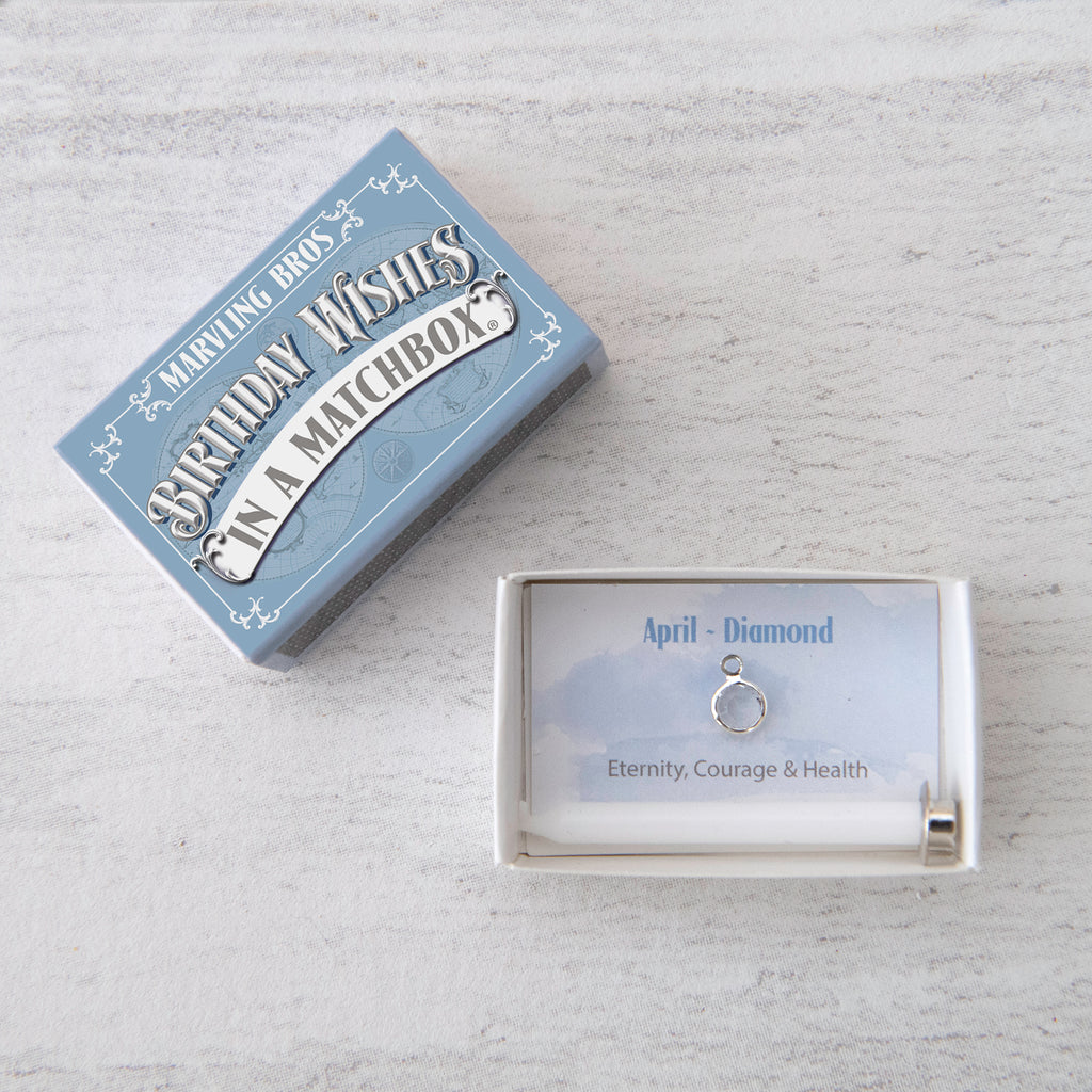 April Birthstone Gift In A Matchbox
