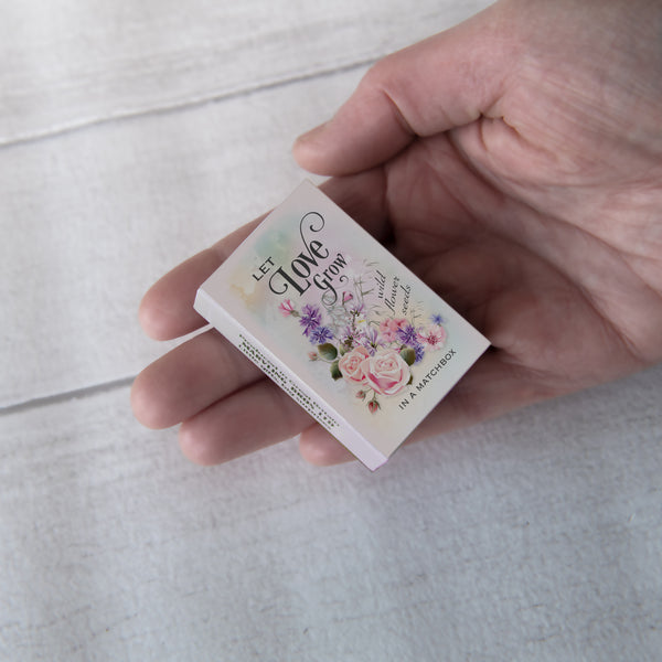 Valentine's Message And Flower Seeds In A Matchbox