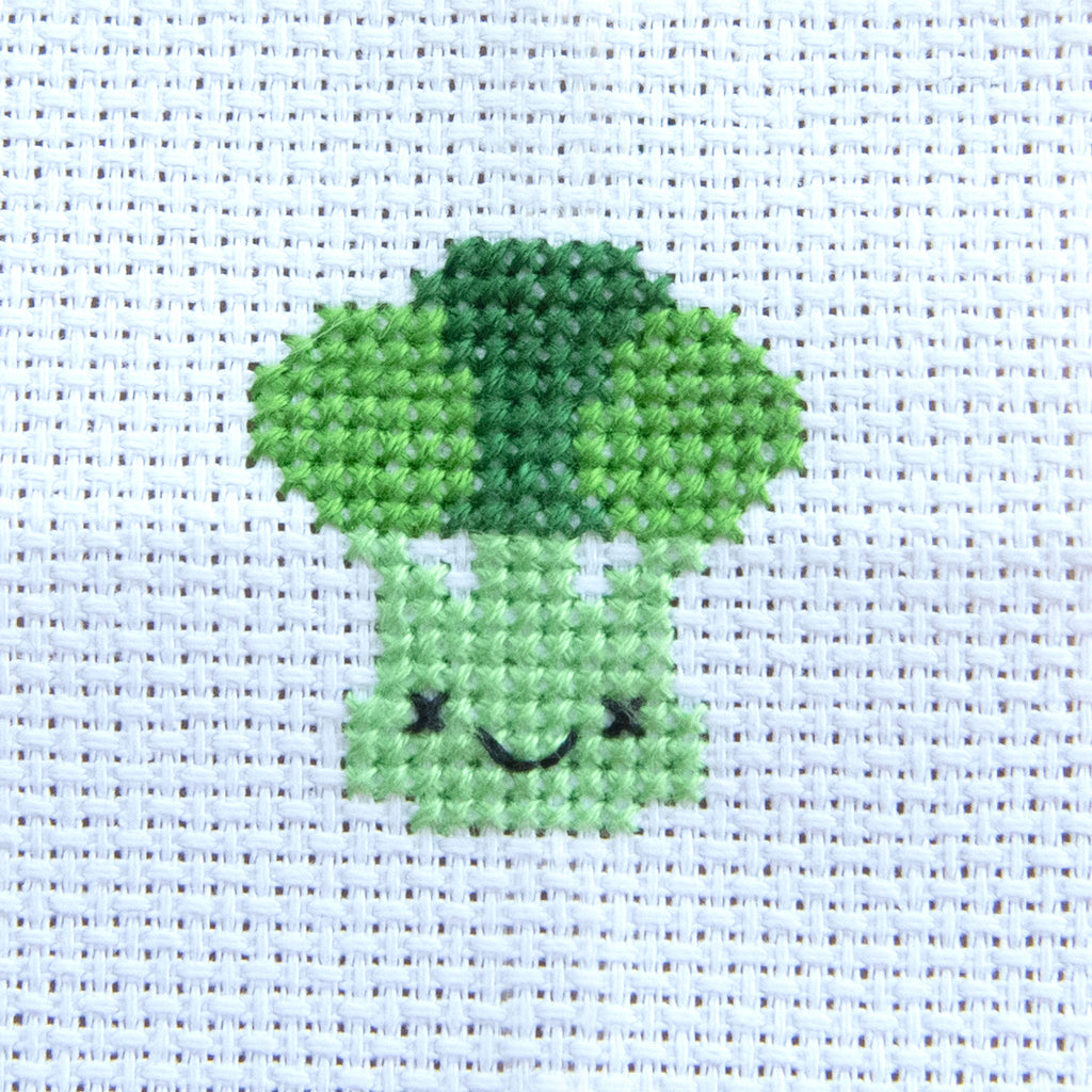Kawaii Broccoli Mini Cross Stitch Kit