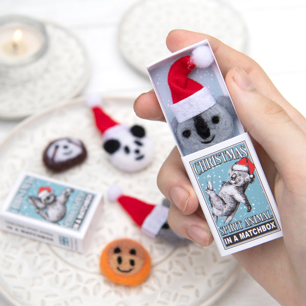 Koala Christmas Spirit Animal In A Matchbox