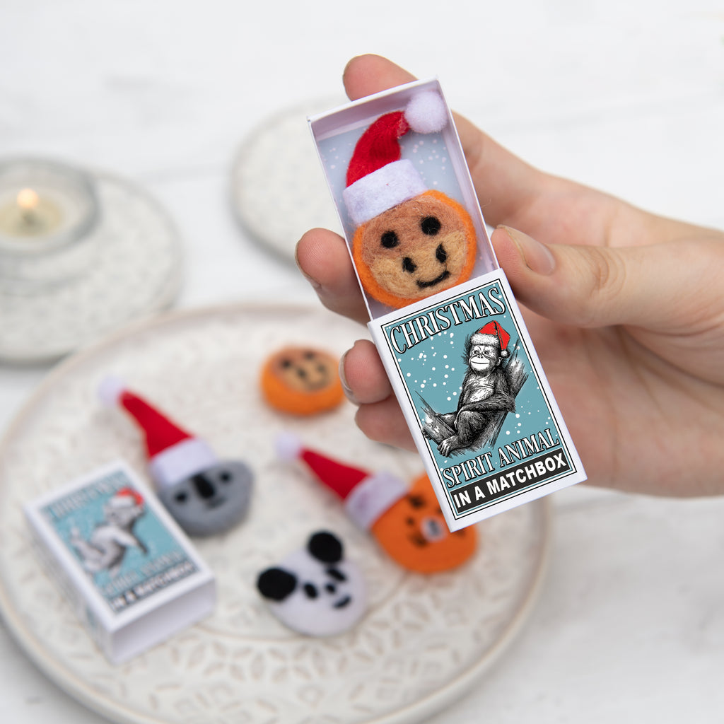 Orangutan Christmas Spirit Animal In A Matchbox