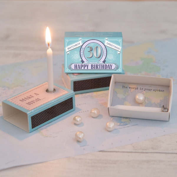 Happy 30th Birthday Candle And Freshwater Pearl Gift