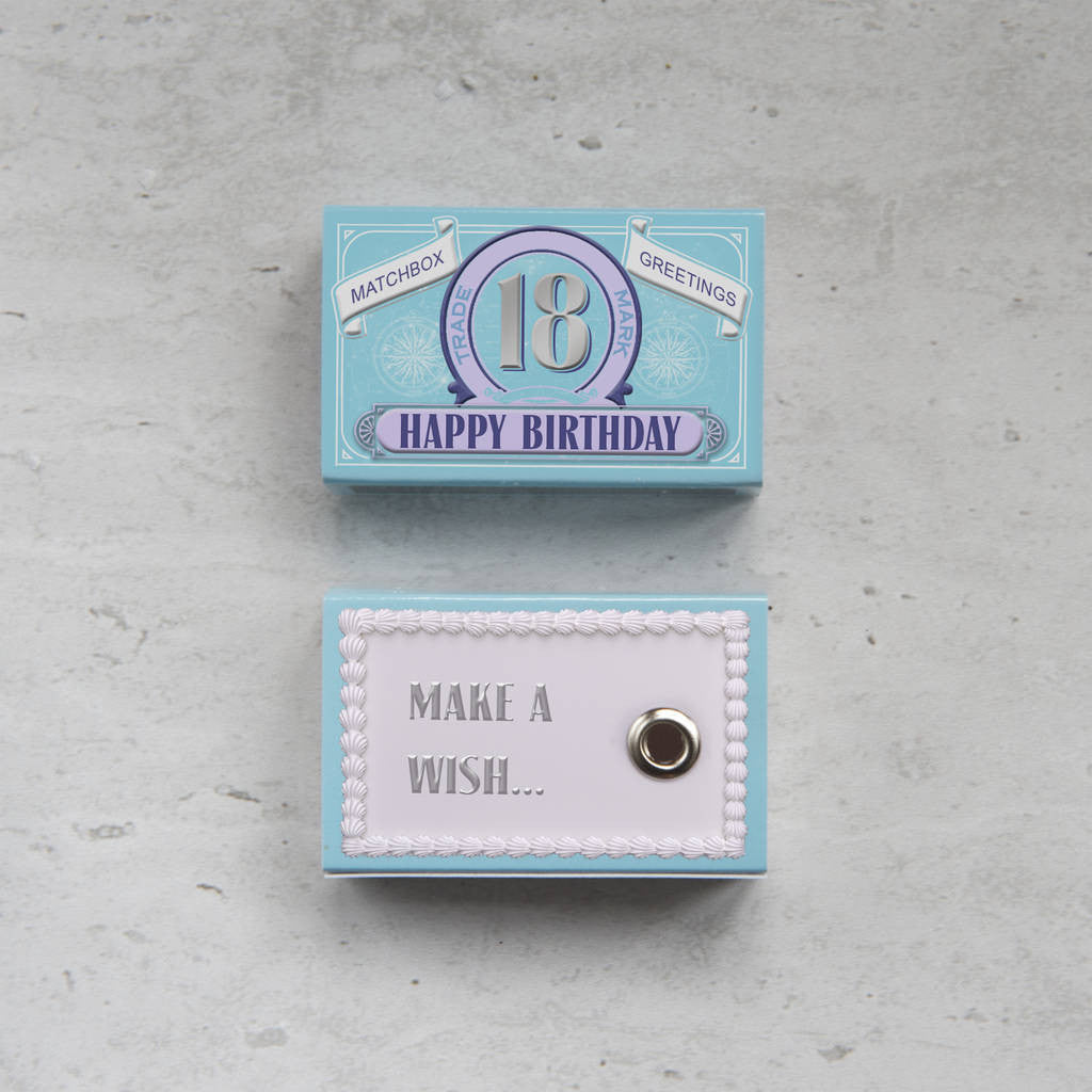 Happy 18th Birthday Greeting For Her In A Matchbox