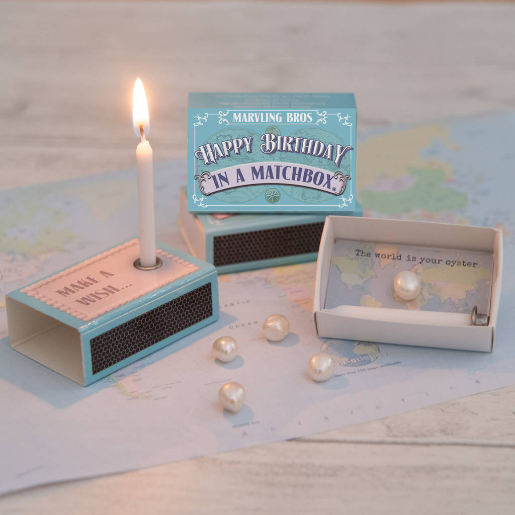 Happy Birthday Greeting In A Matchbox