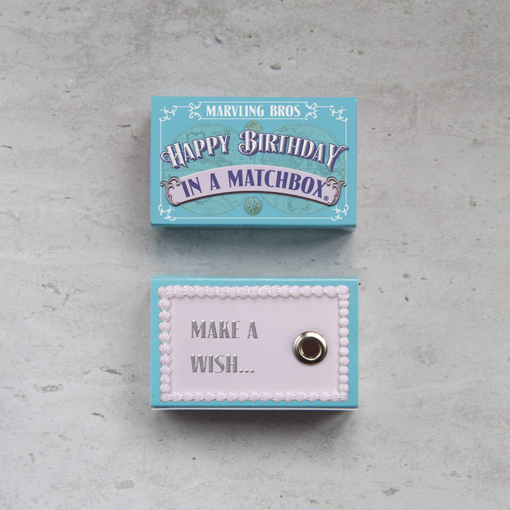 Happy Birthday Greeting In A Matchbox, her special birthday, milestone birthday for her