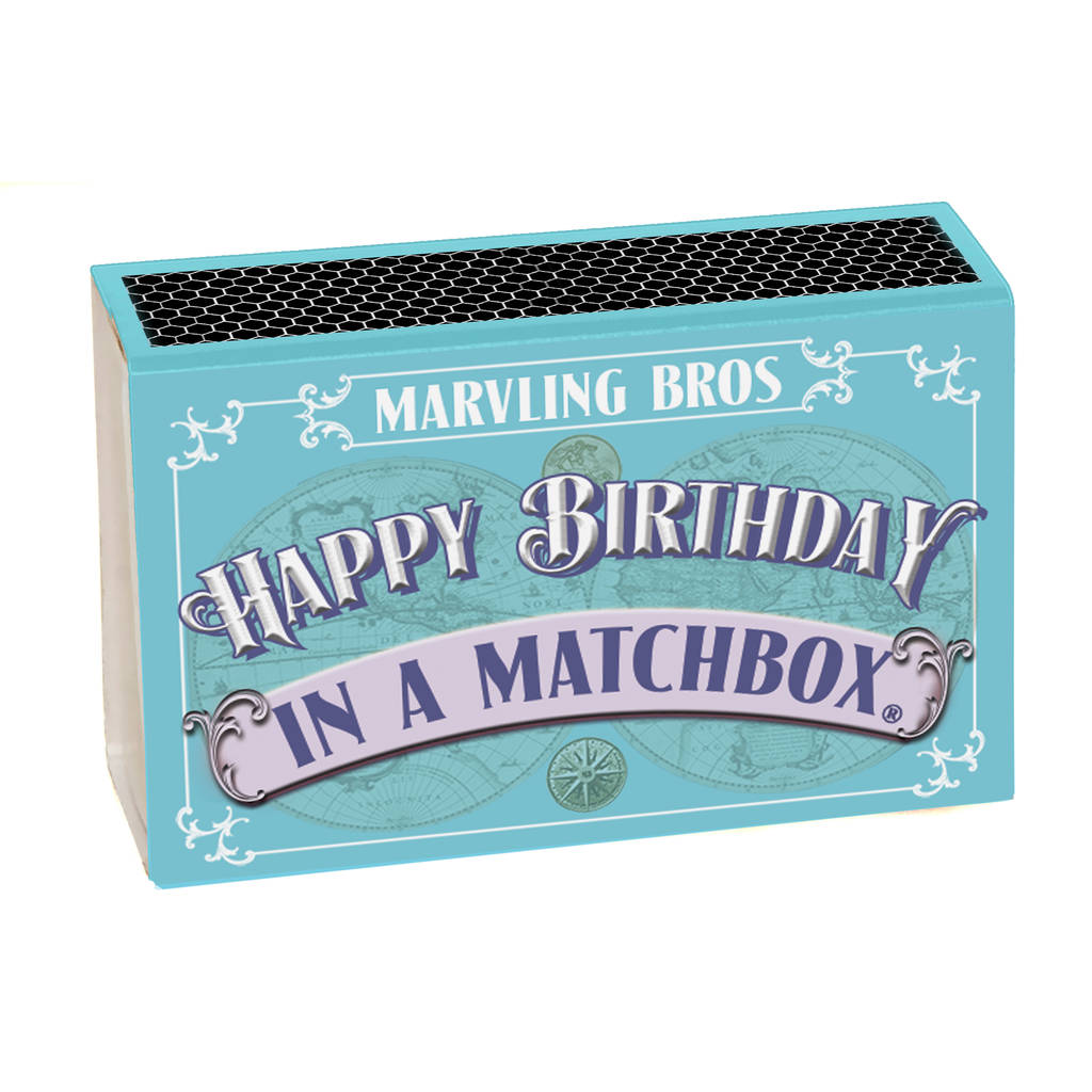Happy Birthday In A Matchbox, the perfect birthday card for her, birthday cards for her