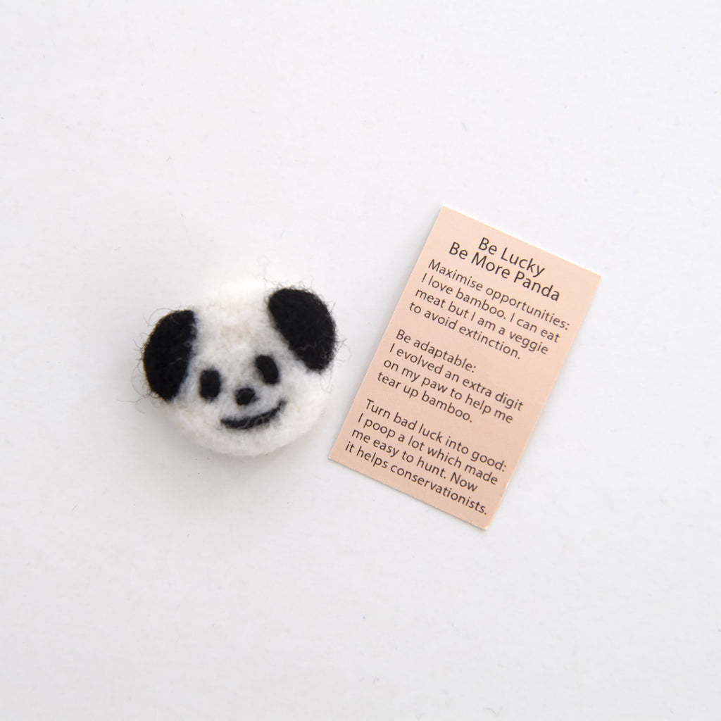 Wool Felt Panda Spirit Animal