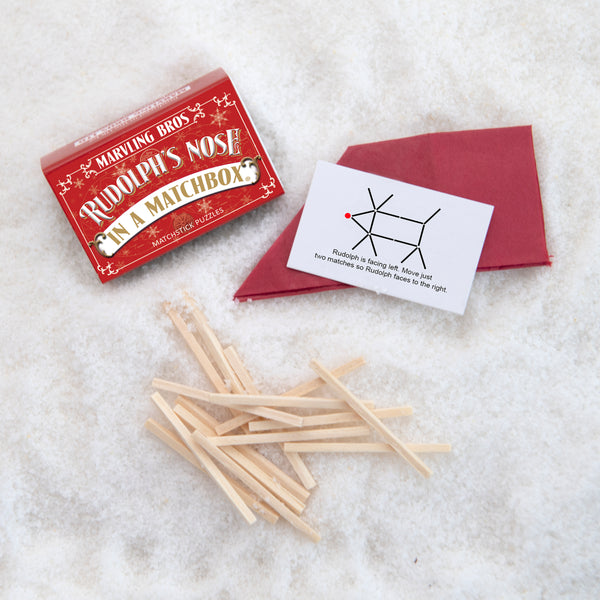 Christmas Matchstick Puzzles - Set Of Six Christmas Table Favours