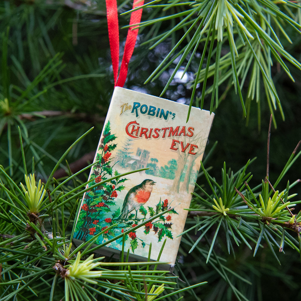 Tree Decoration Christmas Robin Victorian Poem