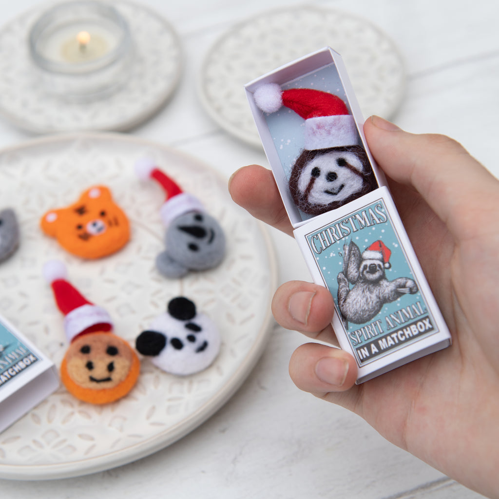 Sloth Christmas Spirit Animal In A Matchbox