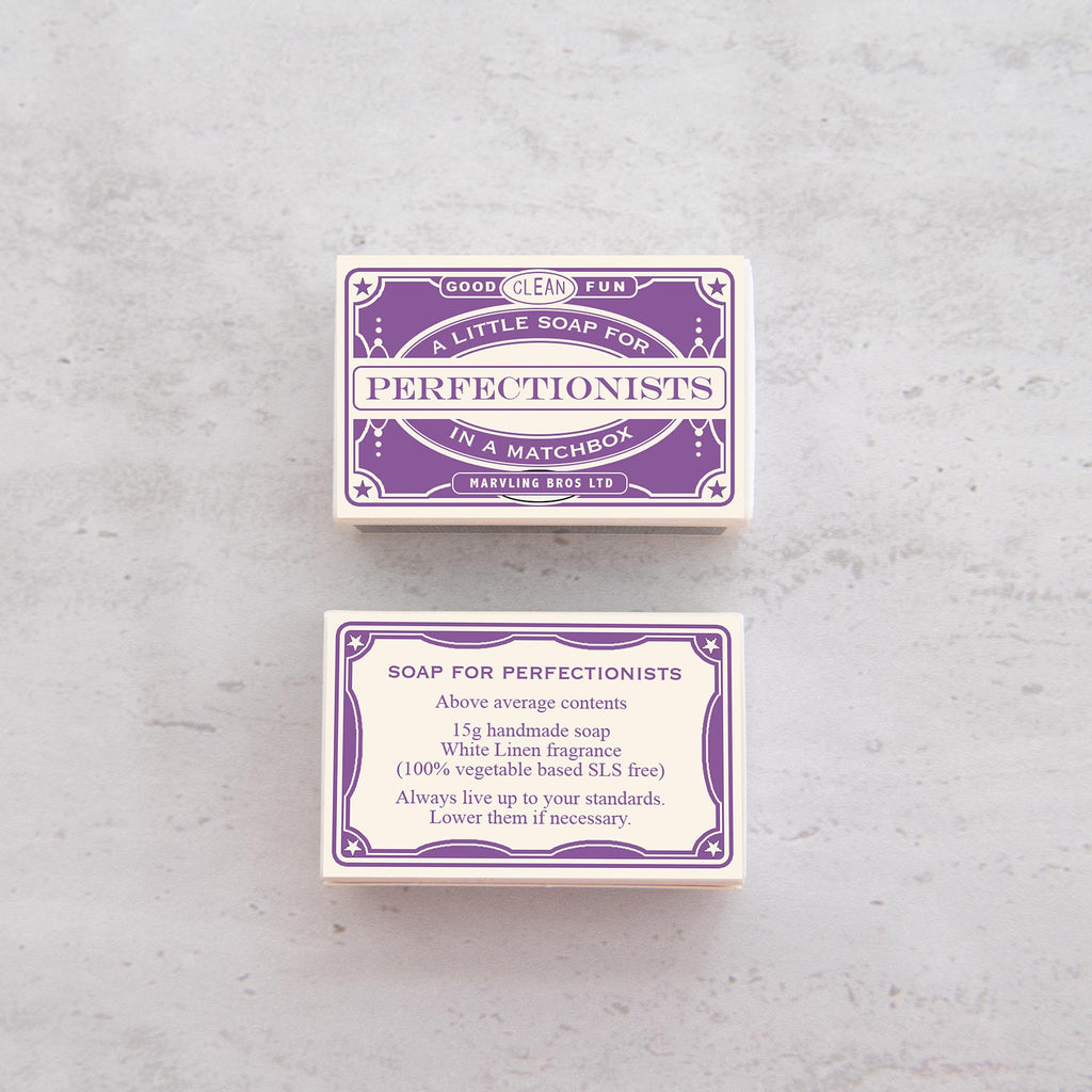 Humorous Mini Soap Gift For Perfectionists Gift