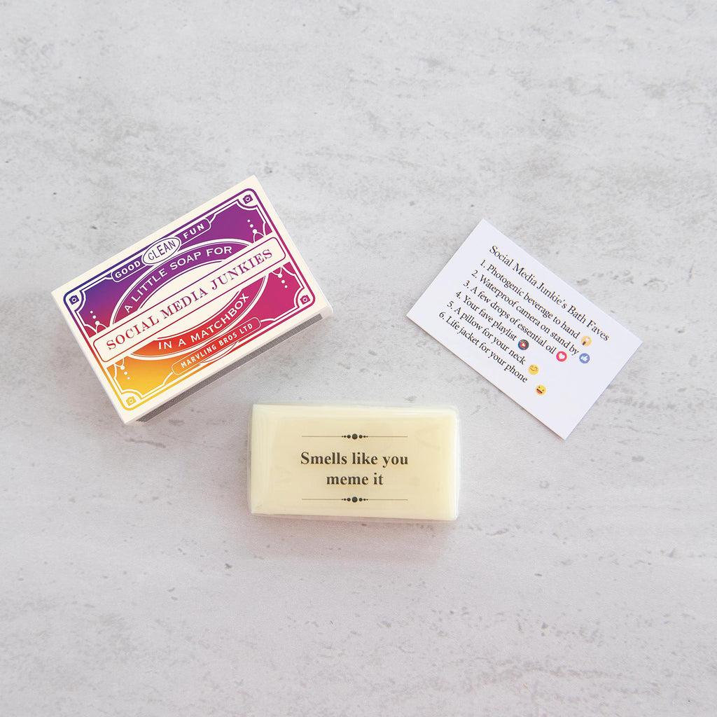 Humorous Mini Soap Gift For Social Media Junkies Gift