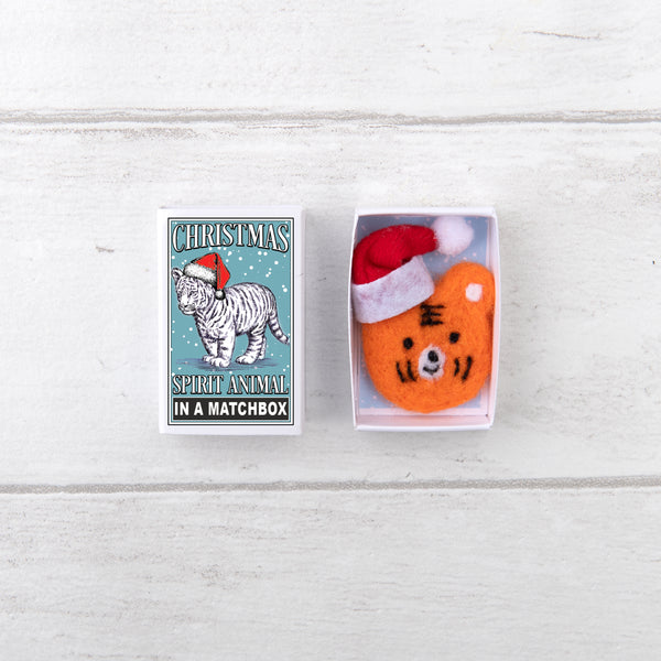 Tiger Christmas Spirit Animal In A Matchbox