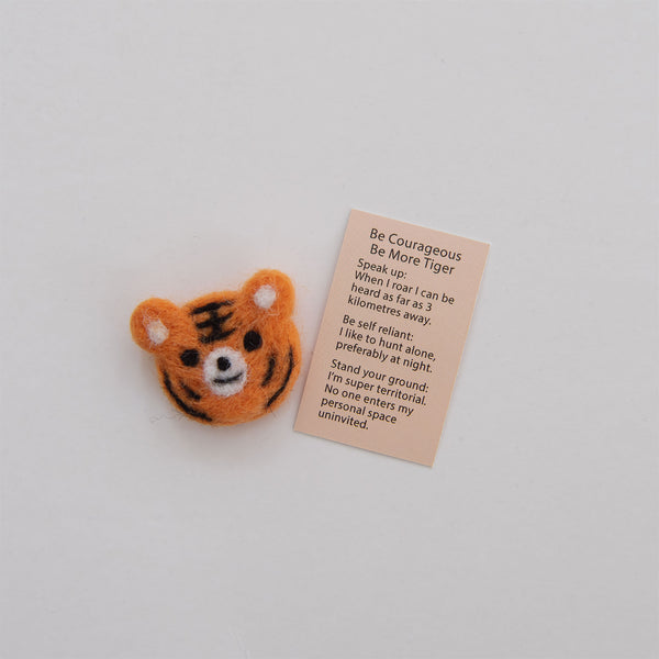 Wool Felt Tiger Spirit Animal Gift In A Matchbox