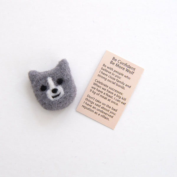 Wool Felt Wolf Spirit Animal