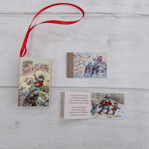 Tree Decoration 'Around The World With Santa Claus' Victorian Poem