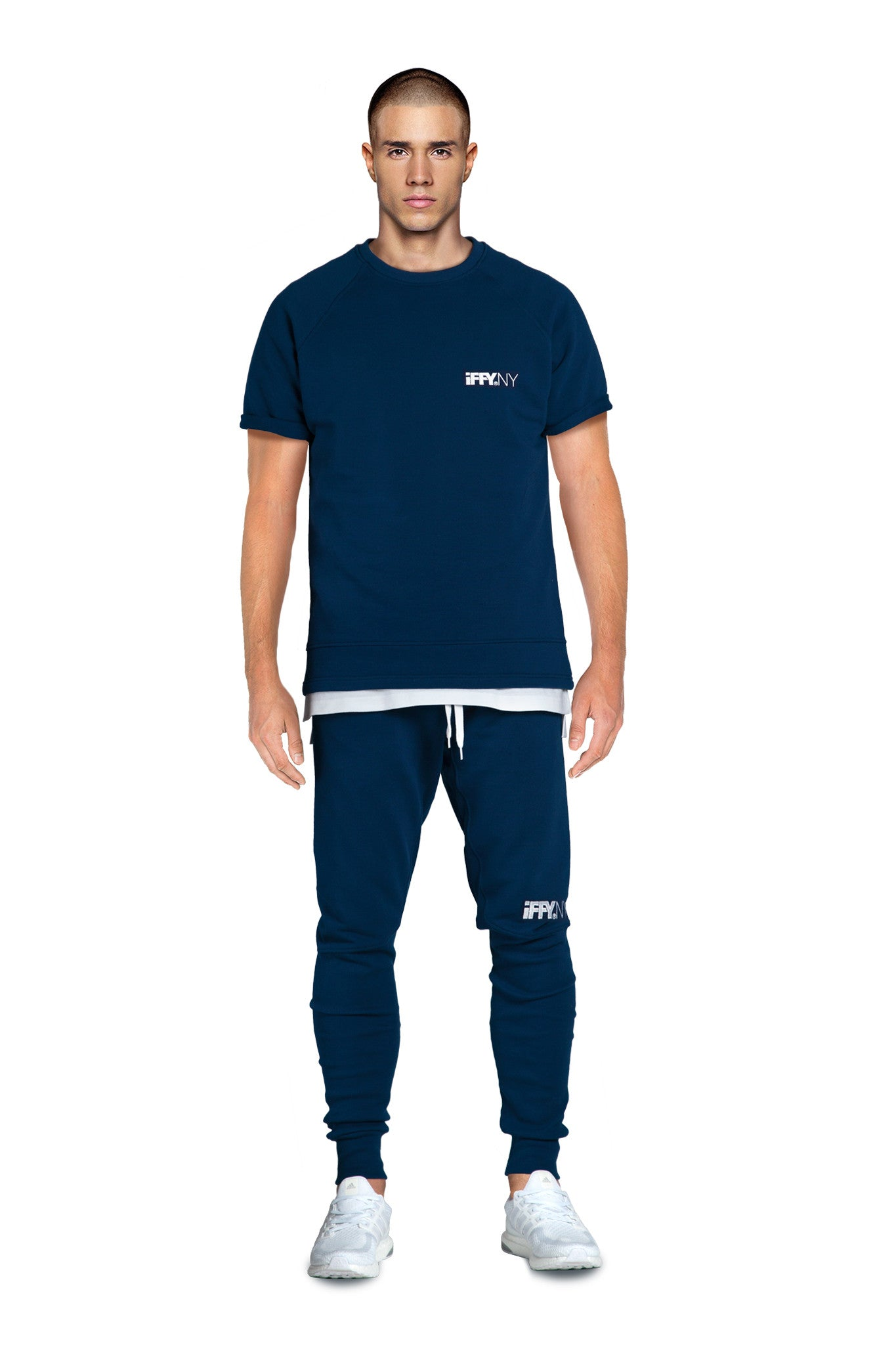 IFFY NY Giles T-shirt in marine blue
