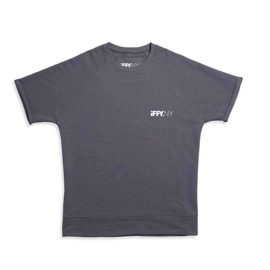 IFFY NY Giles T-shirt in sharkskin grey