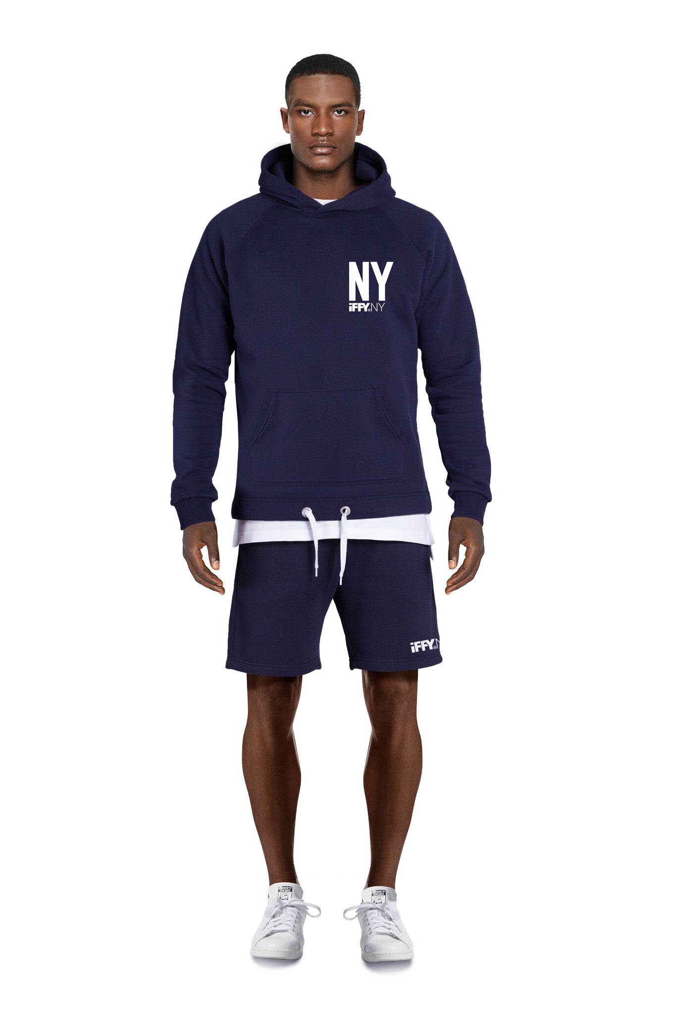 IFFY NY Cooper hoodie in navy blue