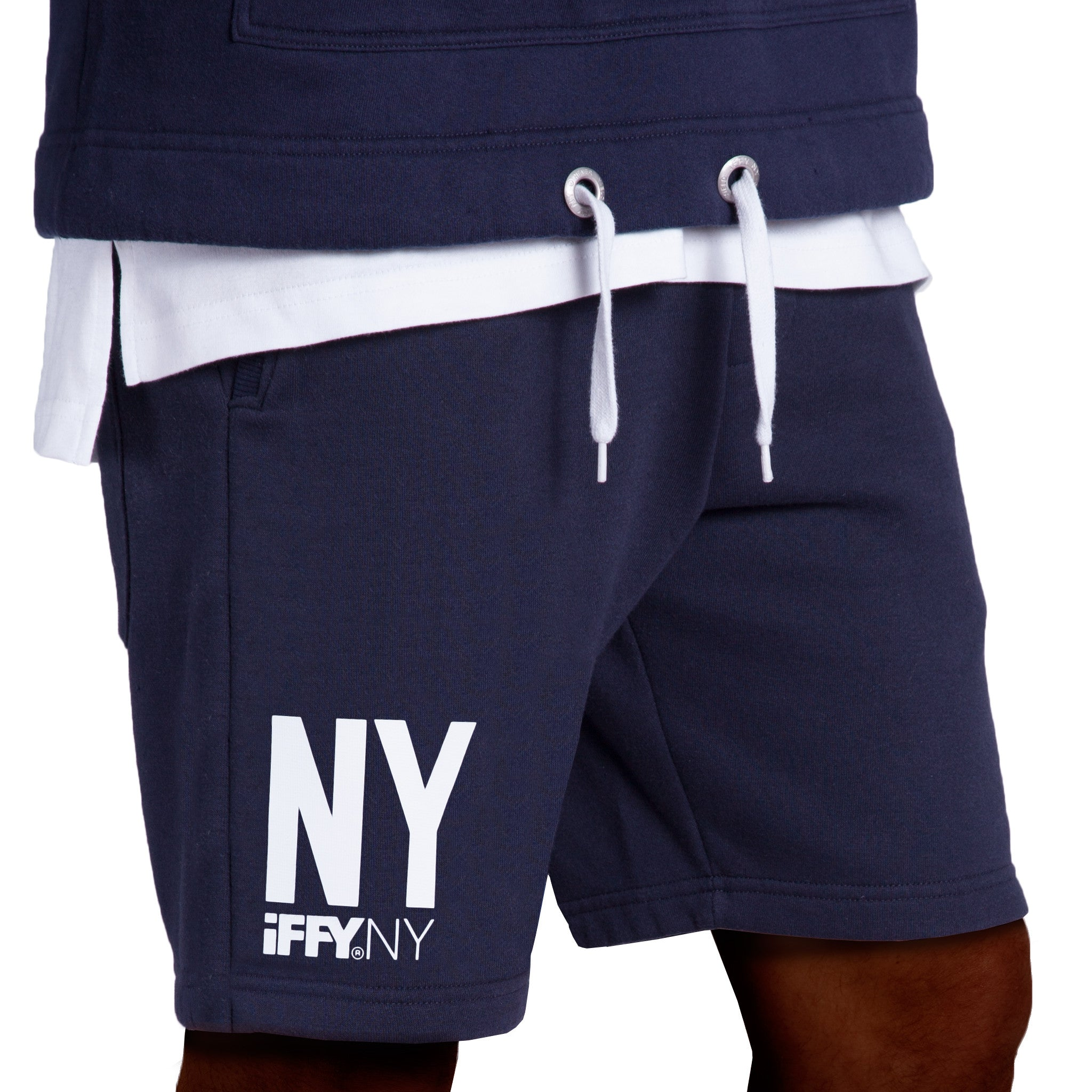 IFFY NY Cooper shorts in navy blue