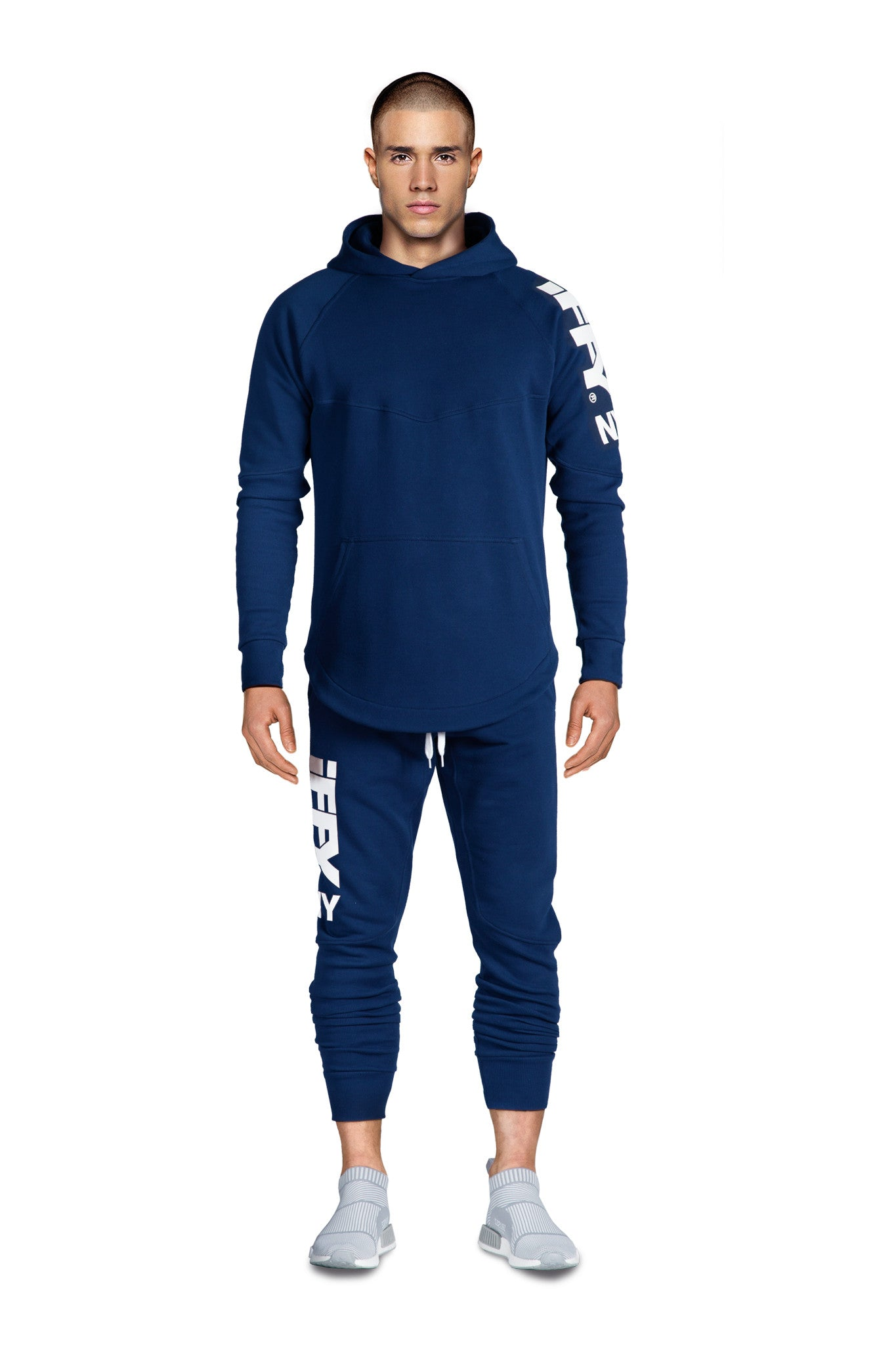 IFFY NY Hunter suit in marine blue (Hoodie)