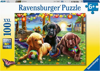 Puppy Picnic 100pc Puzzle