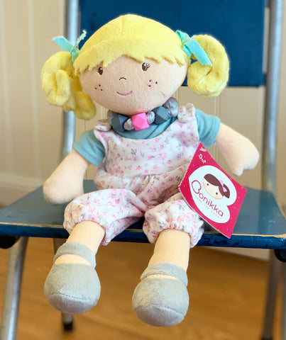 Blonde Lucy Rag Doll with Overalls