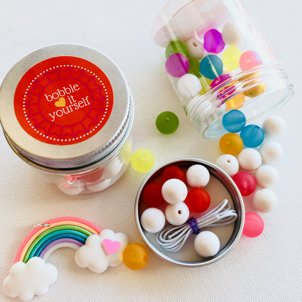 Rainbow Necklace Jar Bobble It Yourself