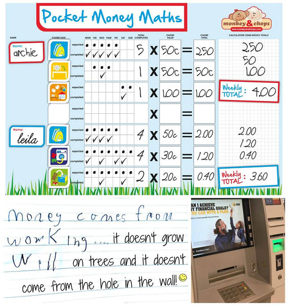 Pocket Money Maths Chart - Magnetic