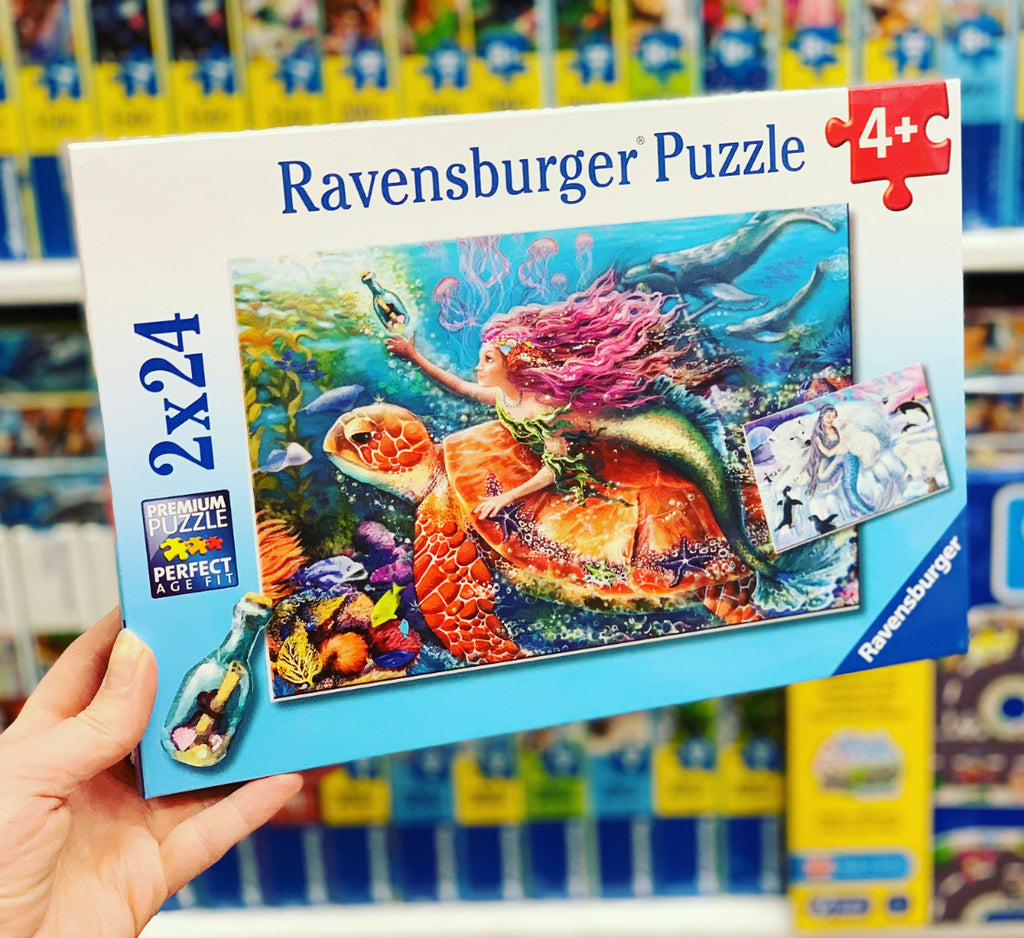 Ravensburger- Mermaid Turtle & Ice 2x24pc
