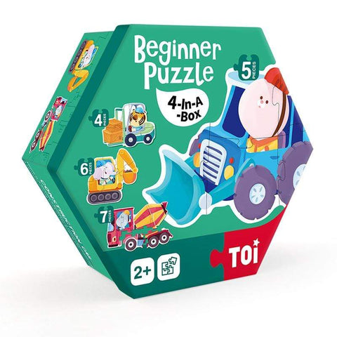 Beginner Puzzle - 4 in a box - Construction Car - 26 pieces