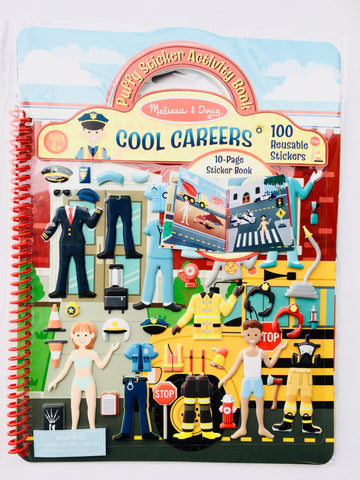 Reusable Puffy Stickers - Careers