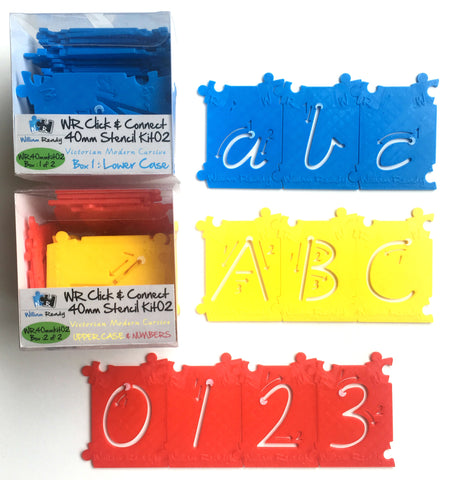 40mm Letters Stencil Kit (72 pcs)