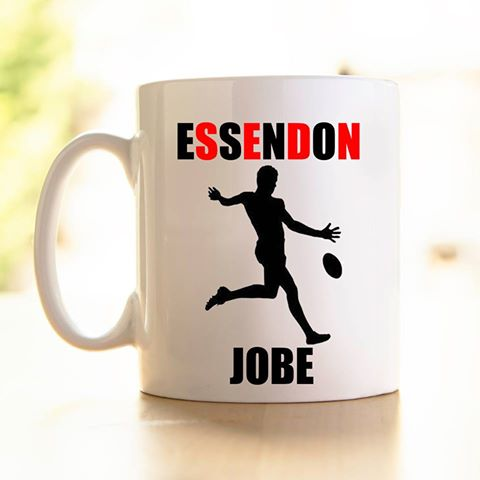 Personalised Footy Mugs - plastic or ceramic