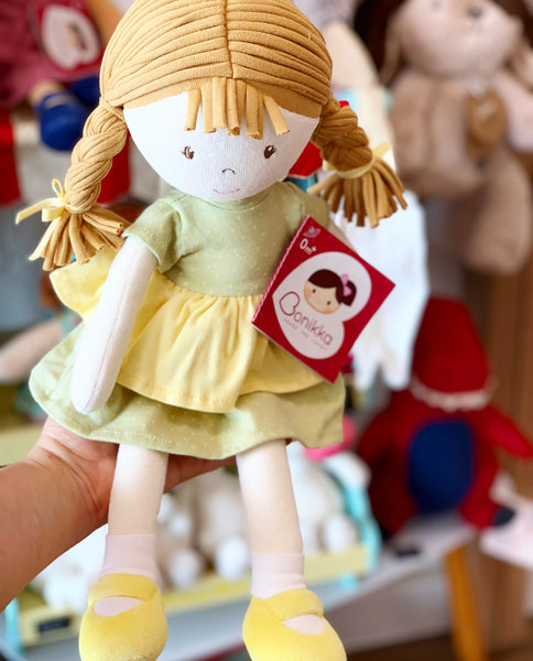 Honey Rag Doll with Green Dress