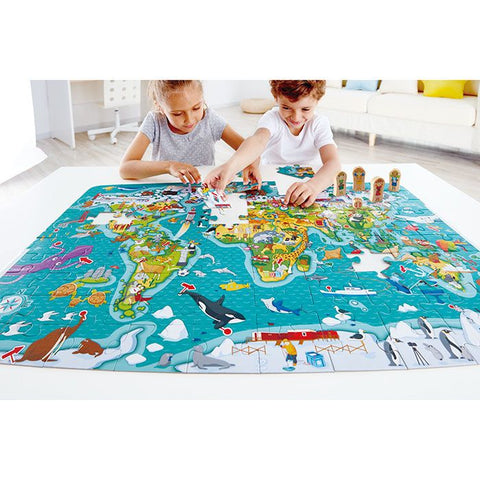 Hape 2-in-1 World Map Puzzle 105 Pieces