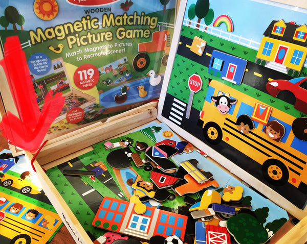 Wooden Magnetic Picture Game