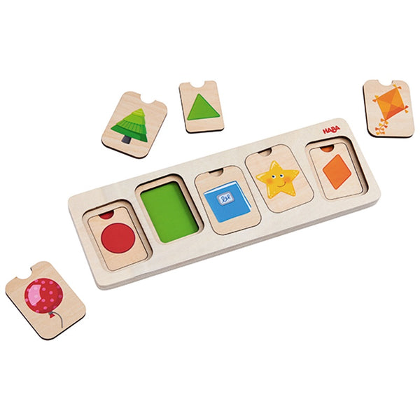 HABA - COLOURS AND SHAPES 3 LAYER PUZZLE
