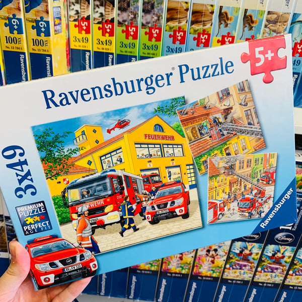 Fire Brigade Run Puzzle 3 x 49pc 5yr