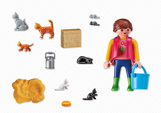 Playmobil – Woman With Cat Family